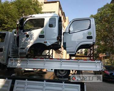 四川常师傅订购东风多利卡驾驶室总成D6白色款