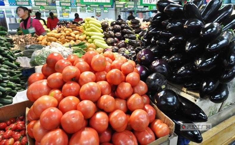 新鲜的蔬菜瓜果