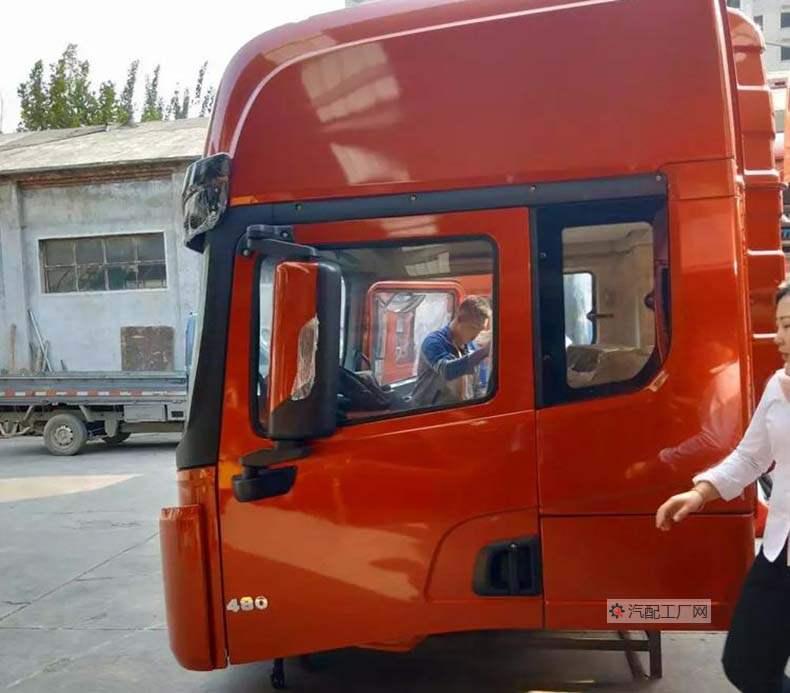 陕汽德龙X3000驾驶室总成侧面图