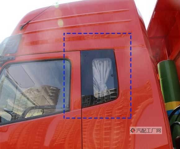 东风驾驶室卧铺侧窗玻璃