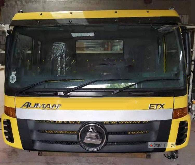 福田欧曼ETX驾驶室总成(黄色版)正面图